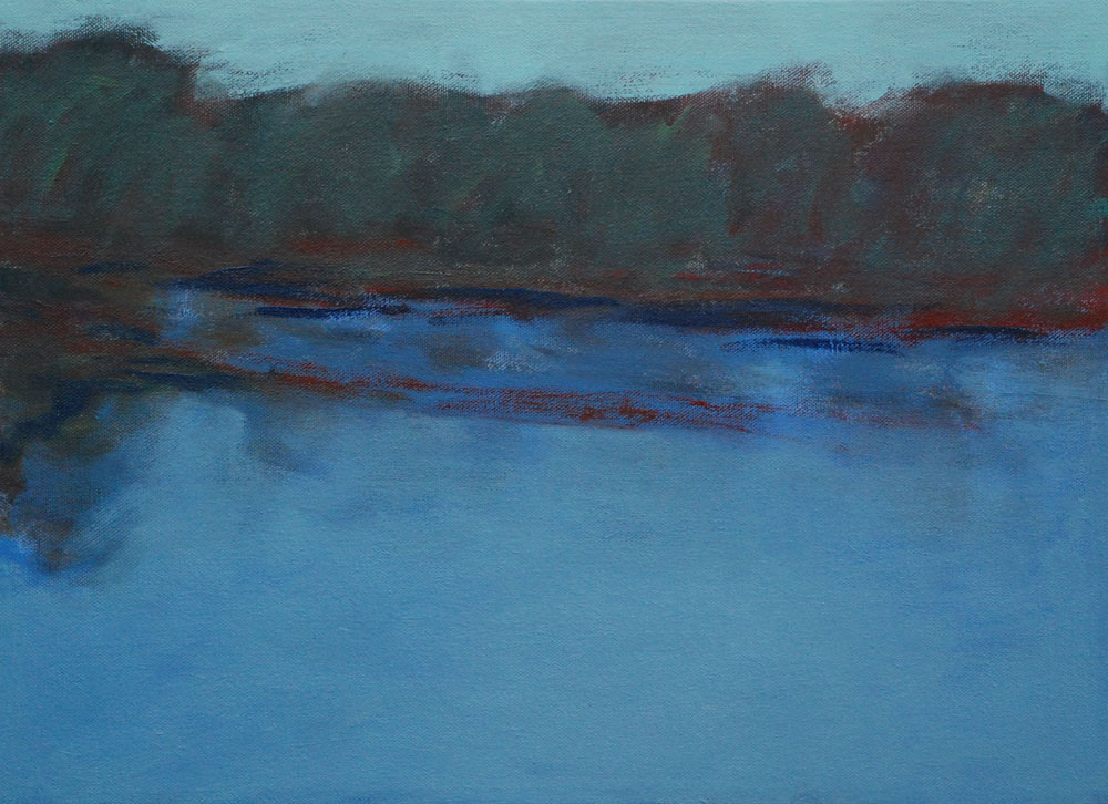 Evening reservoir, 2013